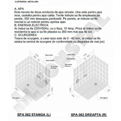 CADA CU HIDROMASAJ SPA-062 STANGA