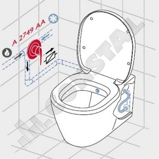 VAS WC IDEAL STANDARD CONNECT SUSPENDAT CU FUNCTIE BIDEU E781901