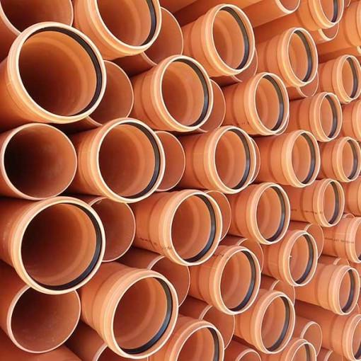 TEAVA CANALIZARE PVC SN4 250*6,2 L=6M