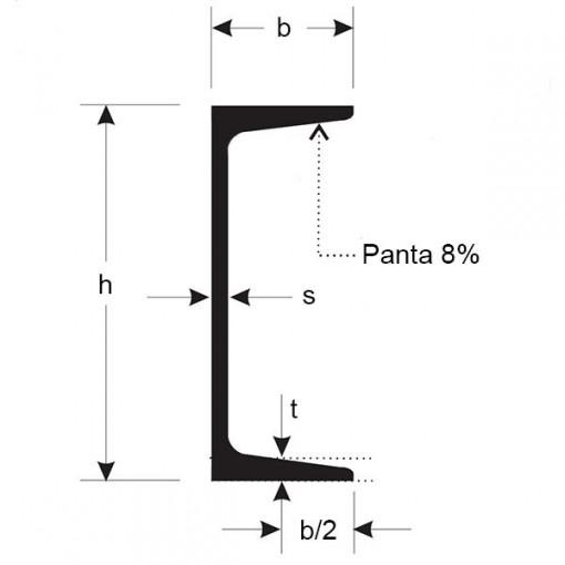 PROFIL UNP 240 mm