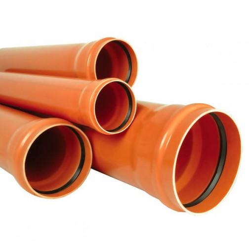TEAVA CANALIZARE PVC SN4 250*6,2 L=1m