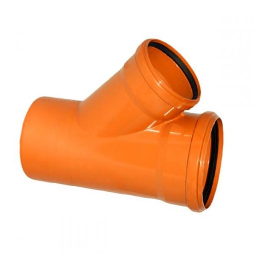 RAMIFICATIE PVC CU INEL ETANSARE 125/110-45 (KGEA)