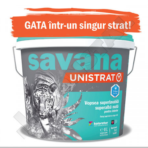 Vopsea lavabila Savana unistrat 4L - un singur strat