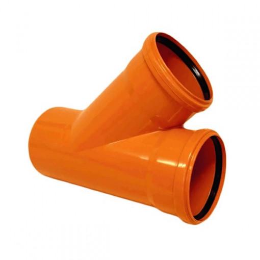 RAMIFICATIE PVC CU INEL ETANSARE 160/160-45 (KGEA)