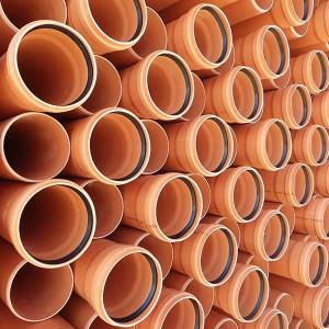 TEAVA CANALIZARE PVC SN4 200*4,9 L=6M