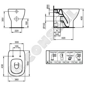 VAS WC IDEAL STANDARD TESI T008301