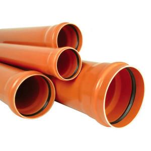 TEAVA CANALIZARE PVC SN4 200*4,9 L=1m