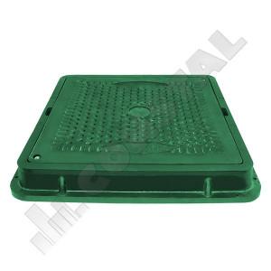 CAPAC CANALIZARE COMPOZIT VERDE 710 X 710 mm PENTRU GRADINA