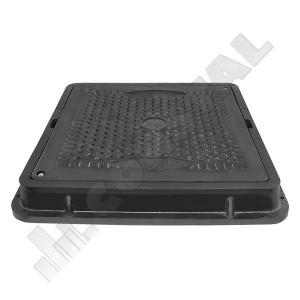 CAPAC CANALIZARE COMPOZIT 710 X 710 mm PENTRU GRADINA