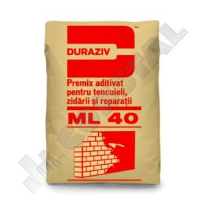 Premix tencuieli, zidării si reparaţii DURAZIV ML 40 - 25 KG