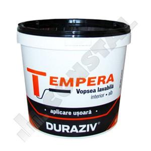 DURAZIV TEMPERA - VOPSEA LAVABILA ALBA INT.  8.5 L