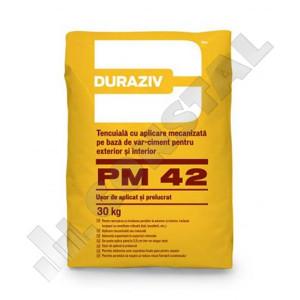 TENCUIALA MECANIZATA CIMENT DURAZIV PM 42 EXTERIOR - 30 KG