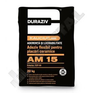 ADEZIV FLEXIBIL PLACARI CERAMICE LA EXT DURAZIV AM 15 CU KAUCIUC - 20 KG