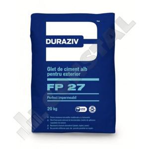GLET DE CIMENT ALB EXERIOR DURAZIV FP 27 - GAMA EXPERT - 20 KG