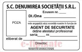 Poze Ecuson agent de securitate