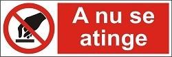 "Poze Indicator ""A nu se atinge"" - model 3  A5"