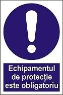 """Poze Indicator """"Echipamentul de protectie este obligatoriu"""" A5"""