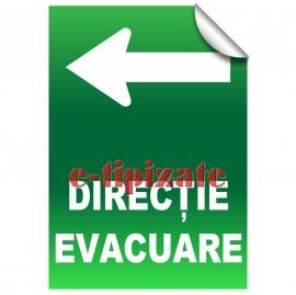 Poze Direcție evacuare - Stânga