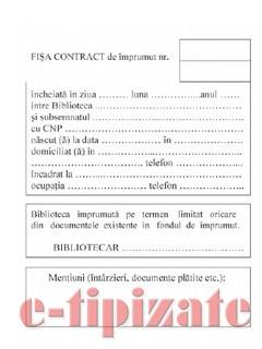 Poze Fisa contract de imprumut