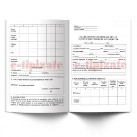 Poze Fisa de consultatii medicale tip A-B pentru conducatorii de autovehicule - A4
