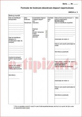 Poze Formular de incarcare - descarcare deseuri nepericuloase A5
