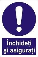 "Indicator ""Inchideti si asigurati"" A4"