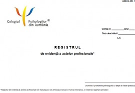 Registru de evidenta a actelor profesionale