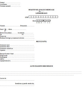Buletin de analize medicale - lipidograma A6