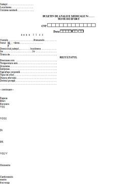 Buletin de analize medicale - teste de efort A6