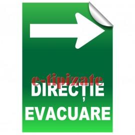 Direcție evacuare - Dreapta