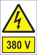 """Poze Indicator """"380 V"""" A5"""