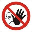 """Poze Indicator """"Accesul interzis persoanelor neautorizate"""" - model 1  A5"""