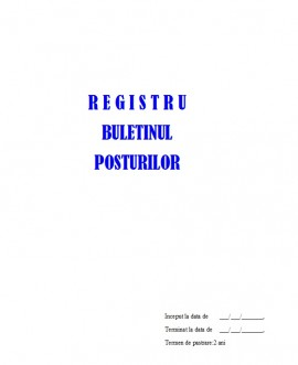 Poze Registru Buletinul Posturilor - 100 file