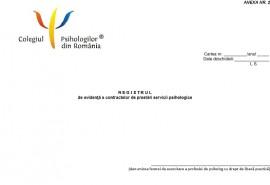 Registru de evidenta a contractelor de prestari servicii psihologice