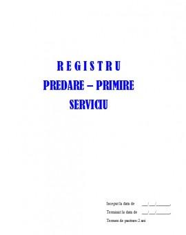 Poze Registru Procese Verbale Predare-Primire Serviciu - 100 file