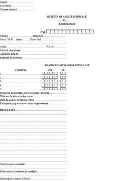 Poze Buletin de analize medicale - radiologie A6