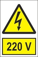 """Poze Indicator """"220 V"""" A4"""