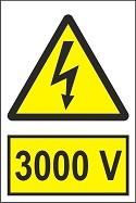 """Poze Indicator """"3000 V"""" A4"""
