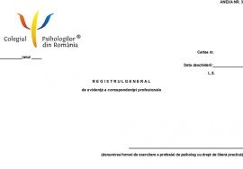 Registru general de evidenta a corespondentei