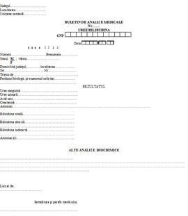 Poze Buletin de analize medicale - uree/bilirubina A6