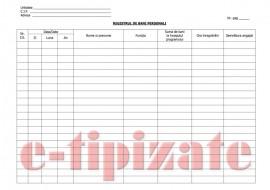 REGISTRU DE BANI PERSONALI -  100 file, 200 pagini