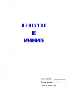 Registru Evenimente - 100 file