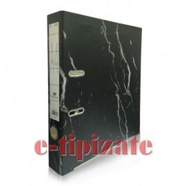Biblioraft marmorat, canturi metalice, 5 cm