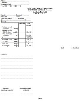 Poze Buletin de analiza a gazelor in sangele arterial A6