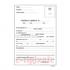 Poze Certificat medical A5