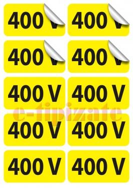 Poze Etichete prize 400V - pe suport A4