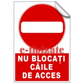 Poze Nu blocați căile de acces