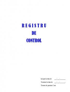 Registru Control - 25 file