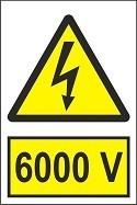 """Poze Indicator """"6000 V"""" A5"""