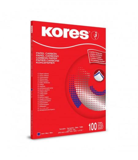 Poze INDIGO A4 100BUC/TOP, albastru KORES